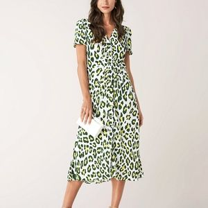 Only worn once DVF CECILIA LEOPARD DRESS